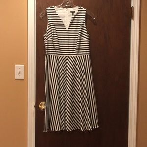 Ann Taylor striped dress, 2 petite. Cute!